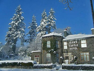 hotel in snowdonia in snow